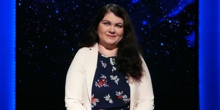 Magdalena Adamiak podczas finału teleturnieju Jeden z dziesięciu