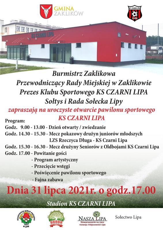Otwarcie obiektu sportowego KS Czarni Lipa Sztafeta.pl